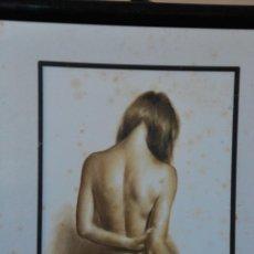 Arte: DOMINGO - PRECIOSO CUADRO AL PASTEL ENMARCADO 30,5 CM X 35. Lote 43642804