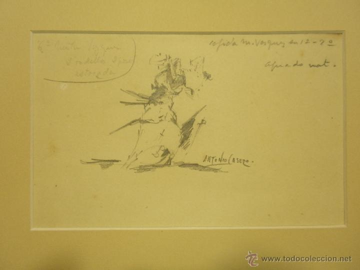 ANTONIO CASERO. APUNTE TAURINO. (Arte - Dibujos - Contemporáneos siglo XX)