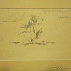 Arte: ANTONIO CASERO. APUNTE TAURINO.. Lote 43676085