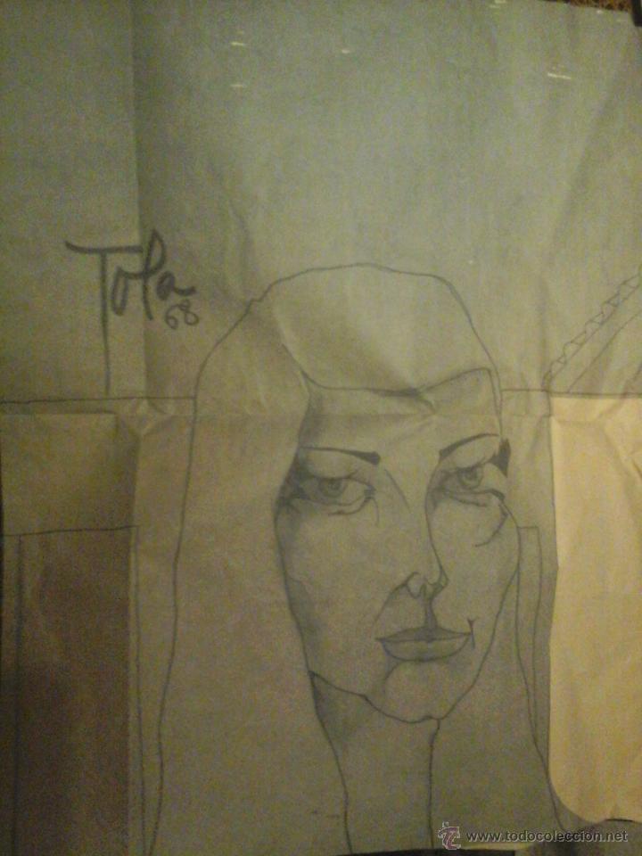 DIBUJO FIRMADO POR FERNANDO GARCIA TOLA (Arte - Dibujos - Contemporáneos siglo XX)