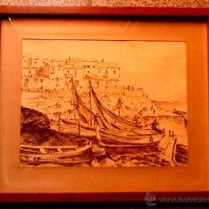 Arte: DIBUJO DE LA COSTA A ROTULADOR.BUEN TRAZO.FIRMADO J,RUIZ.POSIBLEMENTE ZONA DE BLANES. Lote 43811167