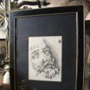 Arte: PAREJA DE RETRATOS S. XIX. CARBONCILLO.. Lote 43815218