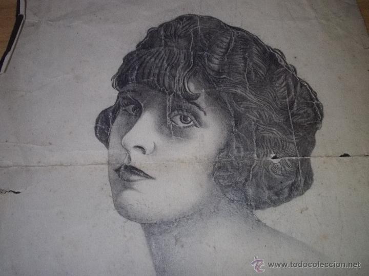 Arte: BONITO LOTE DIBUJO LÁPIZ ORIGINAL ART DECÓ AÑOS 20 RETRATO WOODWARD - Foto 2 - 43923616