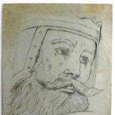Arte: FANTÁSTICO RETRATO ORIGINAL A CARBONCILLO, FIRMADO Y FECHADO, GRAN CALDAD. Lote 44024570
