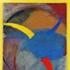 Arte: PINTURA / DIBUJO ORIGINAL - ABSTRACTO - SIN FIRMA AUTOR (?) - CARTON RIGIDO - 18 X 25'5 - AÑOS (?). Lote 44064435