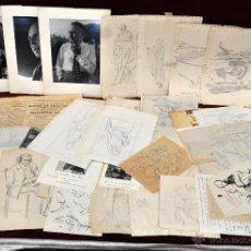 Arte: PERE CLAPERA ARGELAGUER (1906 - 1984) GRAN LOTE DE DIBUJOS Y DOCUMENTOS DE SU ESTUDIO. Lote 44076356