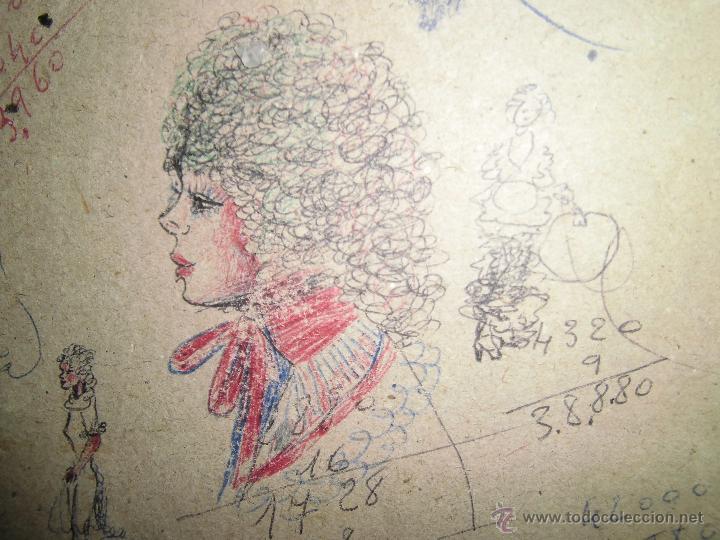 Arte: ALICANTE DIBUJOS ANTIGUOS RETRATOS Y OTROS, APUNTES EN FRANCES Y CASTELLANO - Foto 5 - 44142209