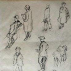 Arte: BOCETOS ORIGINALES REALIZADOS A LAPIZ CON TRAZO IMPRESIONISTA, CALIDAD, ART DECO. Lote 44184174