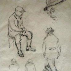 Arte: INTERESANTE BOCETO ORIGINAL ART DECO, TRAZO IMPECABLE, AÑOS 20. Lote 44184589