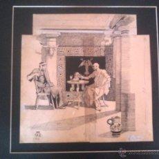 Arte: APELES MESTRES, DIBUJO ORIGINAL 1882 APEL.LES MESTRES. Lote 44217006