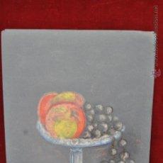 Arte: ANONIMO, DIBUJO A CERAS SOBRE PAPEL. BODEGON. Lote 44369233