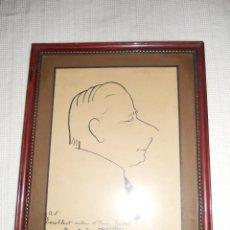 Arte: DIBUJO CARICATURA DEL ENRIC GUITART ( DE FRISCO SOLER 1924. Lote 44439331