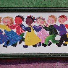 Arte: LÁMINA ENMARCADA DIBUJOS INFANTIL INGRID BECK. Lote 44474526