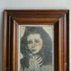 Arte: DIBUJO CON MARCO. FIRMADO Y FECHADO.. Lote 44759881