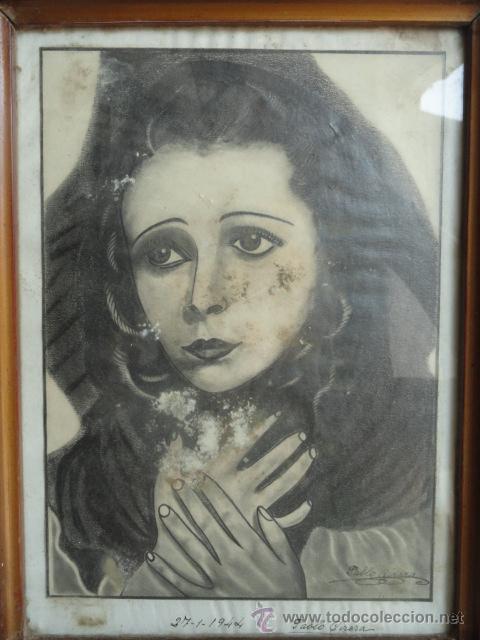 Arte: DIBUJO CON MARCO. FIRMADO Y FECHADO. - Foto 2 - 44759881