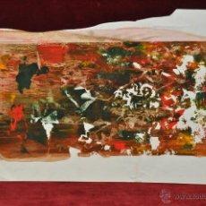 Arte: ANONIMO. TECNICA MIXTA SOBRE CARTULINA. ABSTRACTO. Lote 44880452