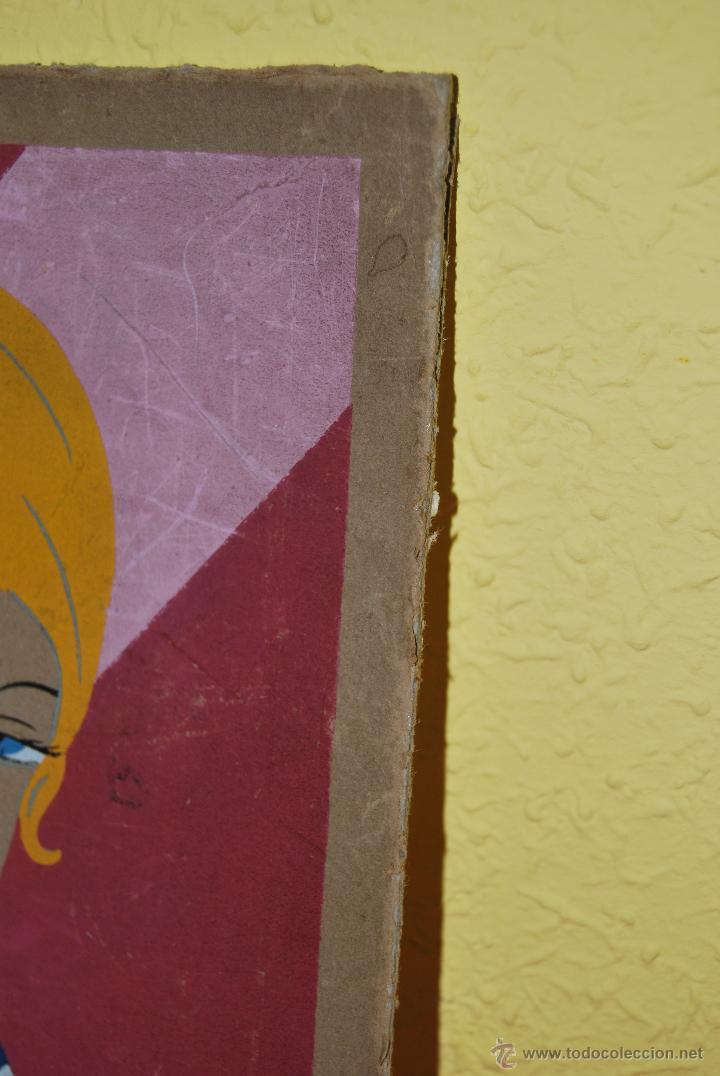 Arte: DIBUJO ORIGINAL SOBRE CARTÓN - RETRATO DE MUJER - ROSTRO FEMENINO - AÑOS 20-30 - ART DÉCO - Foto 4 - 45041858