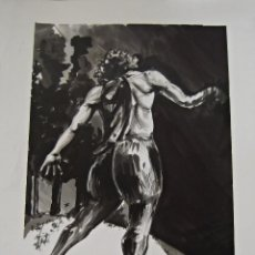 Arte: COMPOSICION TINTA CHINA FIRMA SAMUEL EZ PARA ESCUELA DE ARTE. Lote 45160283