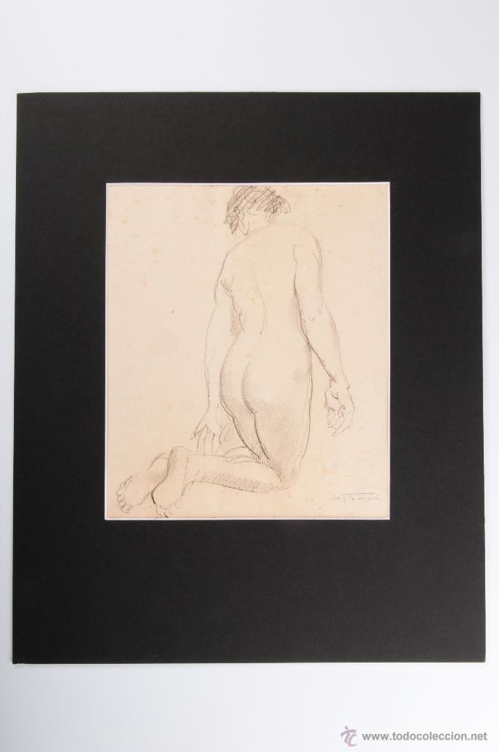 DIBUJO A LAPIZ EN PASPARTU FIRMADO MATAMALA (Arte - Dibujos - Contemporáneos siglo XX)