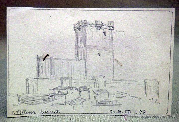 dibujo original boceto lapiz  castillo de vi  Comprar Dibujos