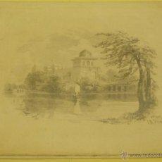 Arte: J.B.PYNE. PALACETE Y LAGO. Lote 45401153