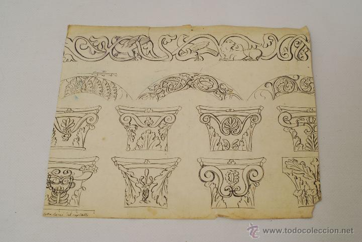 Arte: Dibujo a la acuarela. Siglo XVIII o XIX. - Foto 2 - 45490385