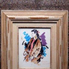 Arte: DIBUJO ROTULADOR DE GUILLERM FRESQUET(1914-1921).BIEN ENMARCADO. Lote 45506418