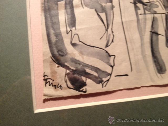 Arte: INTERESANTE DIBUJO TINTA Y ACUARELA, BOCETO MODELOS, AÑOS 30, ENMARCADO, FIRMADO - Foto 4 - 45548689