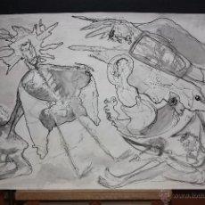 Arte: ANONIMO. TECNICA MIXTA SOBRE PAPEL. ABSTRACTO. Lote 45569244
