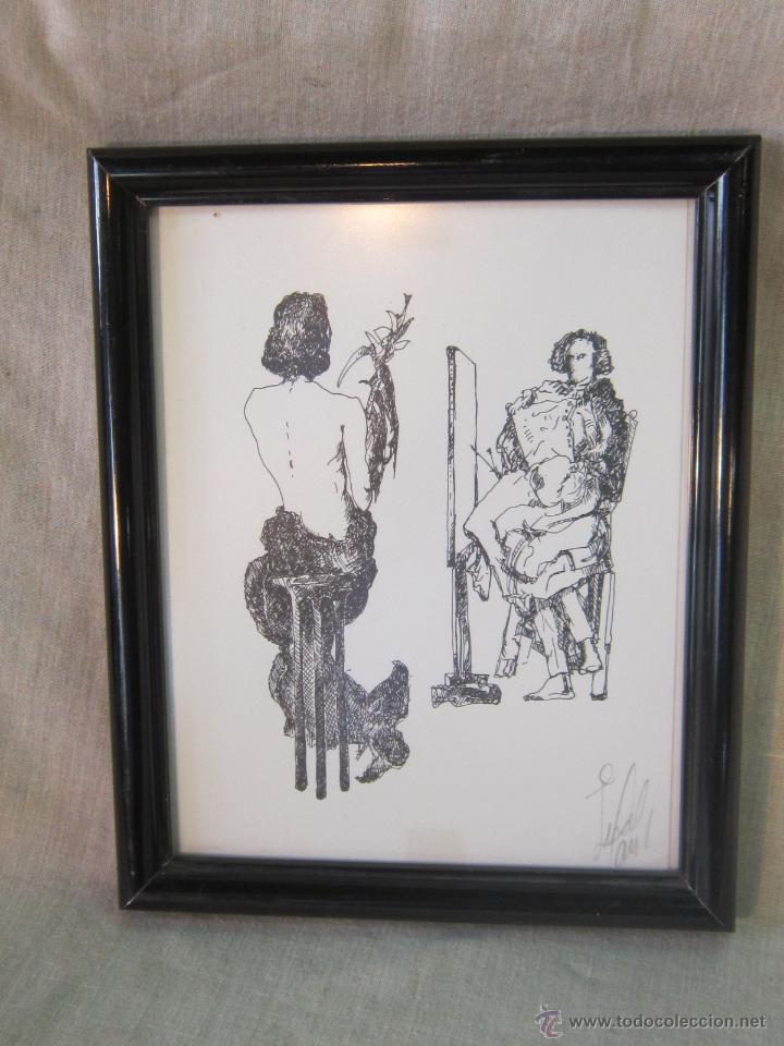 DIBUJO A TINTA ORIGINAL FIRMADO (Arte - Dibujos - Contemporáneos siglo XX)