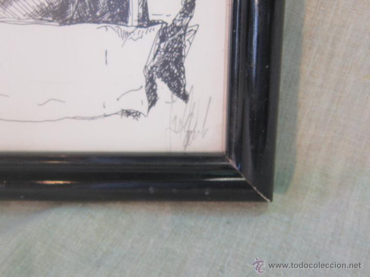 Arte: DIBUJO A TINTA ORIGINAL FIRMADO - Foto 3 - 45660854