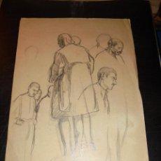 Arte: CALDES DE MONTBUI - FELIX MESTRES I BORRELL 1872-1933 DIBUJO PREPARATORIO PINTURA MURAL ERMITA DEL R. Lote 45726773