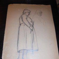 Arte: CALDES DE MONTBUI - FELIX MESTRES I BORRELL 1872-1933 DIBUJO PREPARATORIO PINTURA MURAL ERMITA DEL R. Lote 45726815