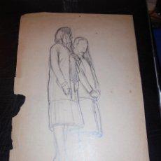 Arte: CALDES DE MONTBUI - FELIX MESTRES I BORRELL 1872-1933 DIBUJO PREPARATORIO PINTURA MURAL ERMITA DEL R. Lote 45726853