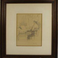 Arte: B3-014. GRAU SANTOS. DIBUJO AL CARBON SOBRE PAPEL. 1968.. Lote 45754635