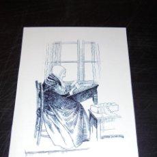 Arte: BOLILLOS - GERARD CARBONELL PIÑOL DIBUJO ORIGINAL A PLUMA - BRUGES DENTELLIRE AO TRAVAL.21X15 CM. . Lote 45757647