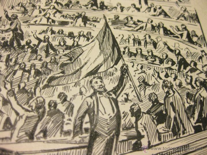 Arte: DIBUJO EN TINTA CHINA DE LAS CORTES CON LOS DIPUTADOS DE PRINCIPIOS DEL S XX - Foto 2 - 45773413