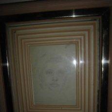 Arte: DONDERIS ALBERT ROBERTO PINTURA MADRILEÑA DIBUJO DEDICADO A SU MADRE ORIGINAL REVERSO CON APUNTES. Lote 45841190