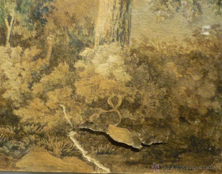 Arte: PAISAJE CON CAZADOR DE LLUIS RIGALT (1814-94) - Foto 4 - 45851560