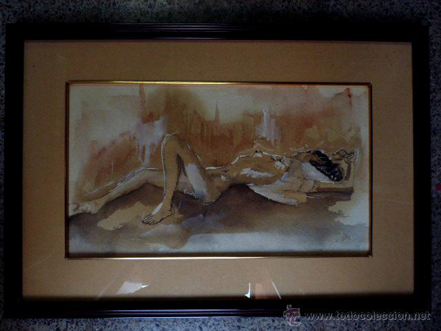 DIBUJO ACUARELADO.CON FIRMA ILEGIBLE.1934 (Arte - Dibujos - Contemporáneos siglo XX)