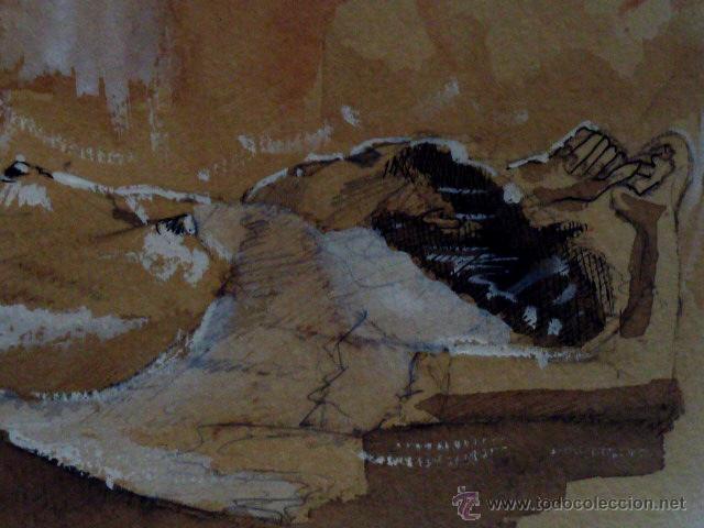 Arte: dibujo acuarelado.con firma ilegible.1934 - Foto 3 - 45884385