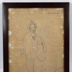 Arte: DORA KUCEMBIANKA (1895-1979) DIBUJO A LÁPIZ ENMARCADO 24X30 CM.. Lote 45921953