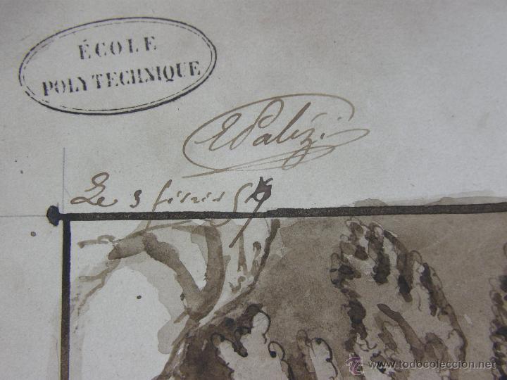 Arte: dibujo aguada tinta aquatinta paisaje montaña 27,5x44,5cms - Foto 5 - 45950891