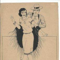 Arte: BONITO DIBUJO ORIGINAL A TINTA (C. 1951) FIRMADO VALLS - 29 X 21 CM.. Lote 46003573