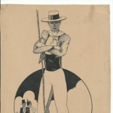 Arte: BONITO DIBUJO ORIGINAL A TINTA (C. 1951) FIRMADO VALLS - 29 X 21 CM.. Lote 46003634