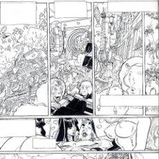 Arte: ART CÓMIC ORIGINAL DE GEORGES BESS Y JODOROSKY TAMAÑO 46.5 X 32. Lote 46115358
