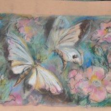 Arte: PINTURA ORIGINAL REALIZADA POR P. LATHAM MARIPOSAS. Lote 46121521