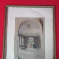 Arte - Escena oriental. Carboncillo sobre fieltro. Firmado. 1948 - 46126575