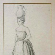 Arte: MARAVILLOSO RETRATO ORIGINAL DE UNA JOVEN, FECHADO 1841, EJECUTADO DE MANERA EXCELENTE. Lote 46233025