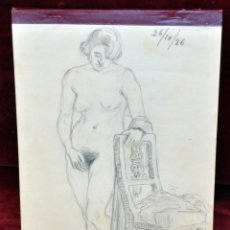 Arte: FRANCESC PLANAS DORIA (SABADELL, 1879 - 1955) BLOC DEL ARTISTA CON 29 DIBUJOS A CARBÓN DE DESNUDOS. Lote 46534687